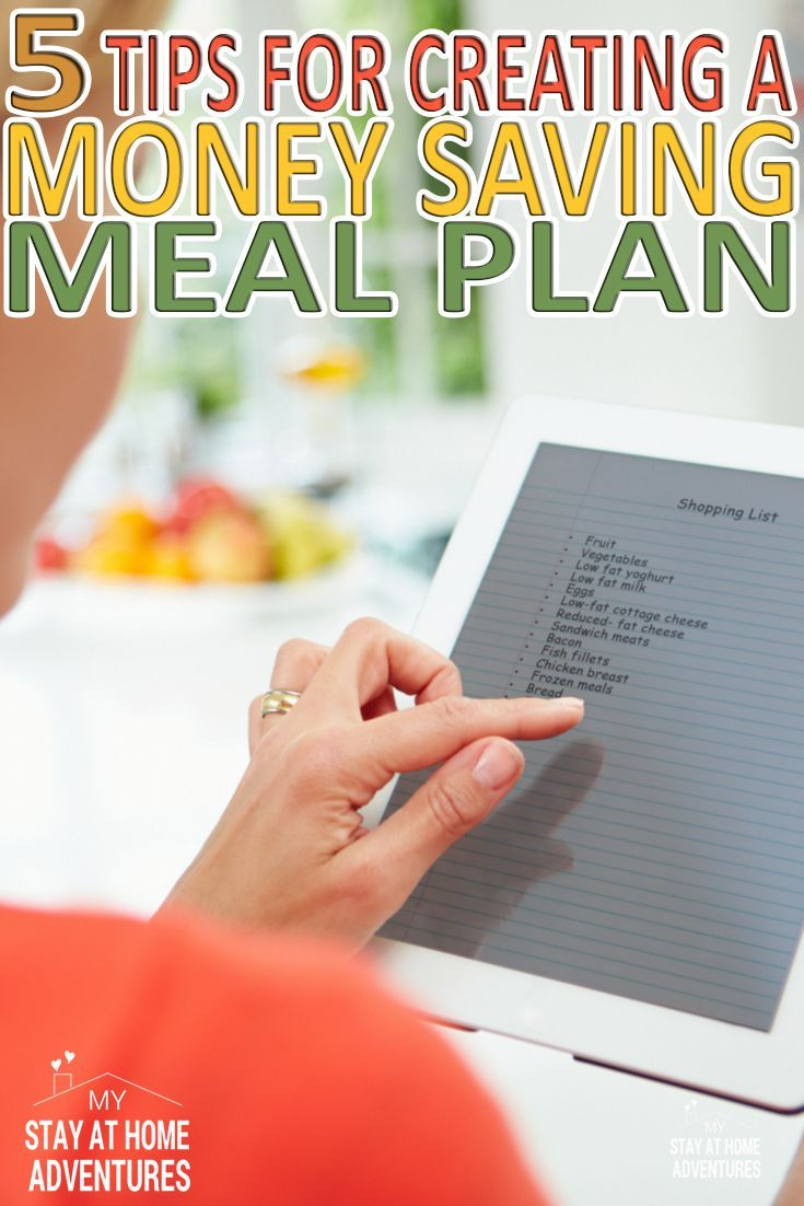 Learn how to create a meal plan that saves money. After reading this ...