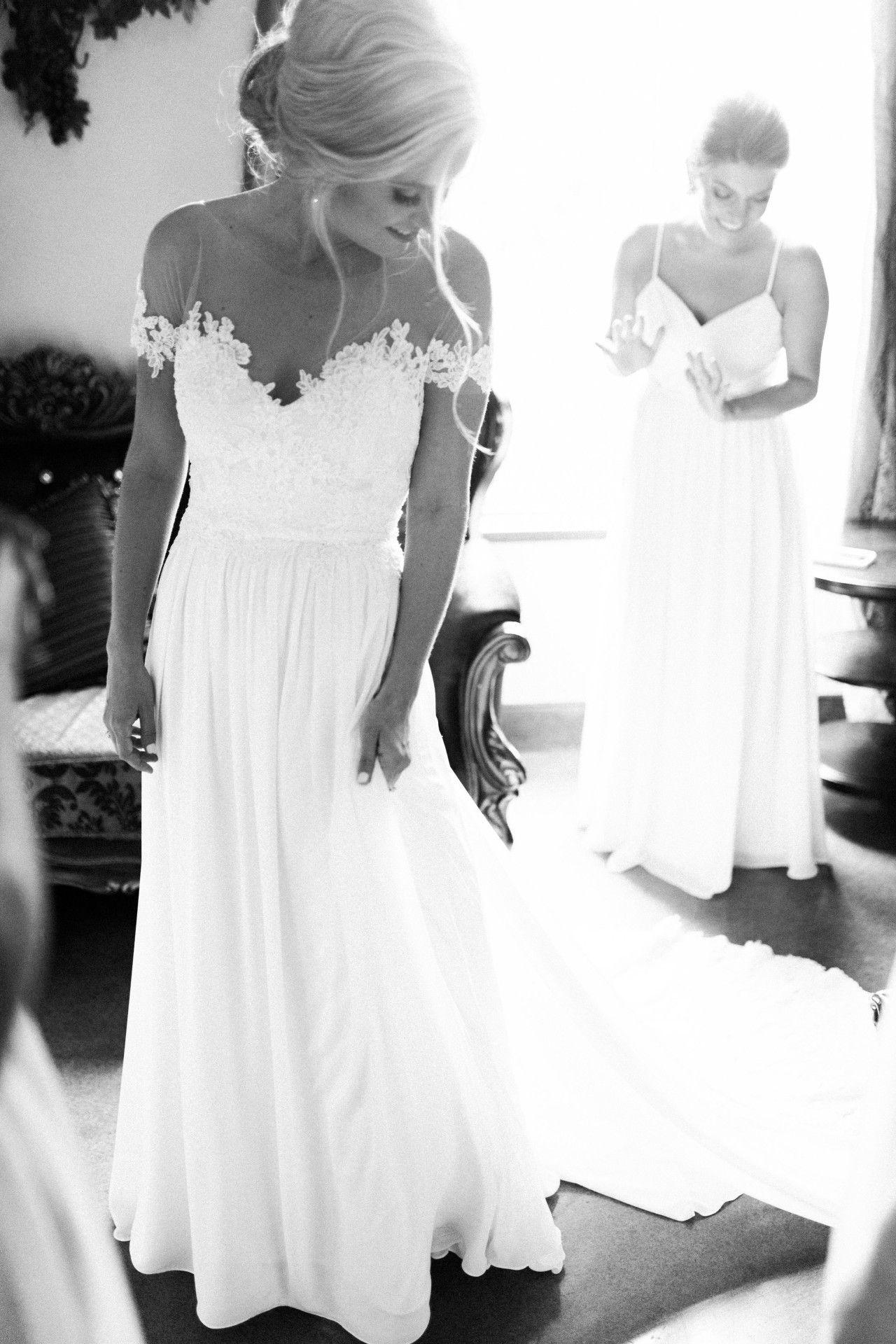 Bohemian wedding dress bohoflow wedding dress flowing bohemian