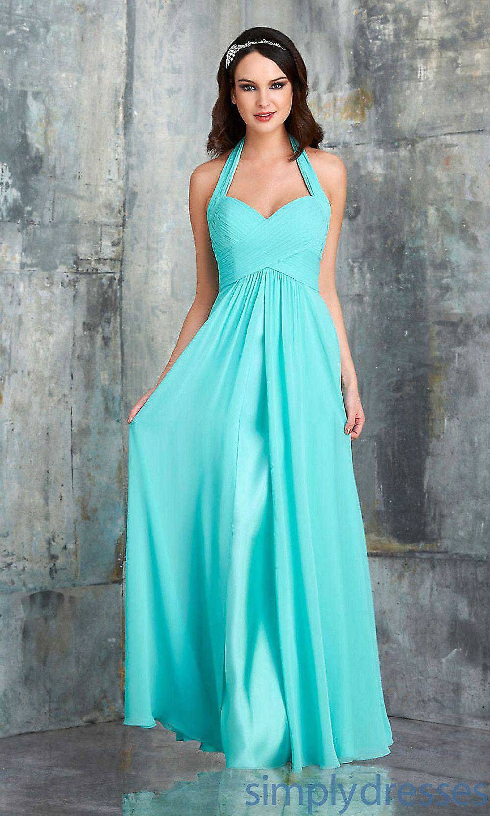 Dress, Criss Cross Halter Bridesmaid Dress by Bari Jay - Simply ...