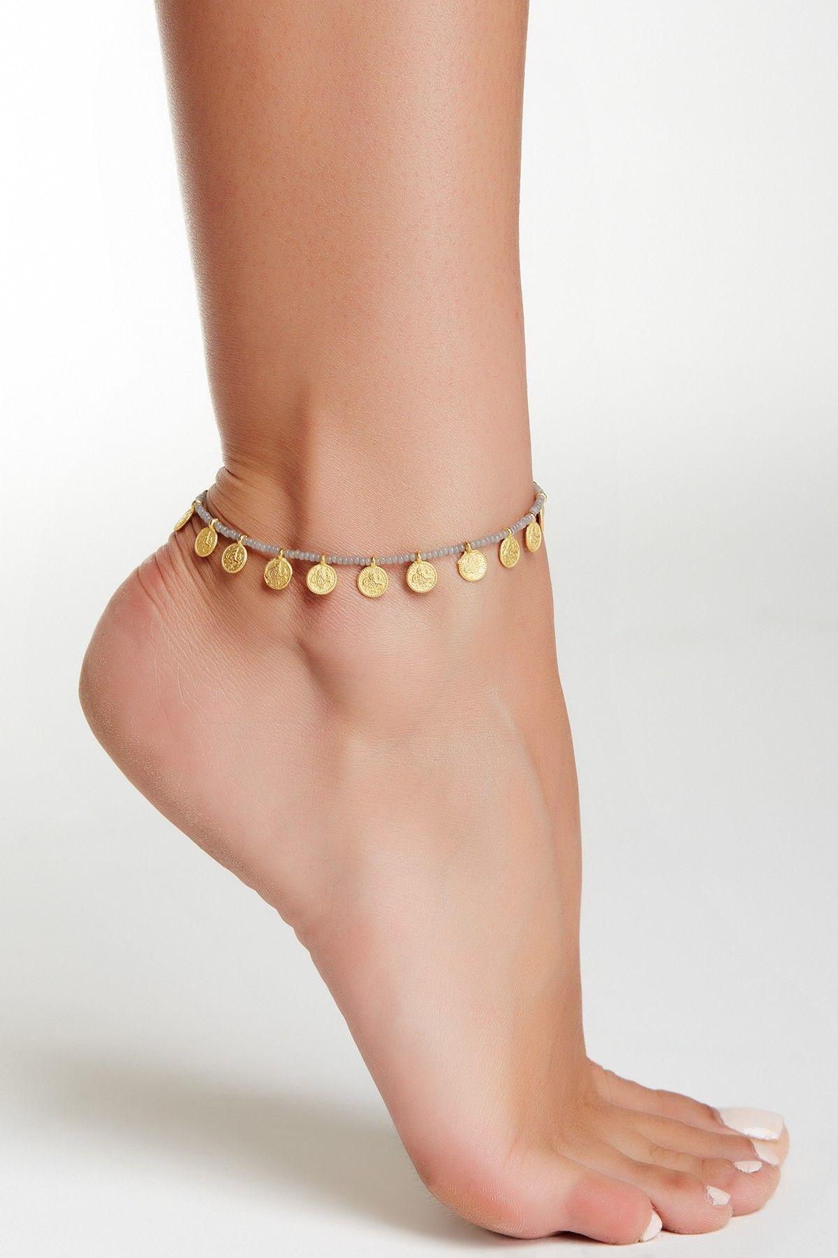 """+ Extender Chain Ankle Bracelet 21cm Gold Tone Drop Chain Anklet - 8/"""""""