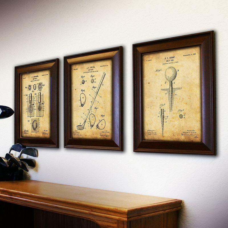 Personal Prints \'\'Golf\'\' 3-piece Framed Wall Art Set | Wall art sets ...