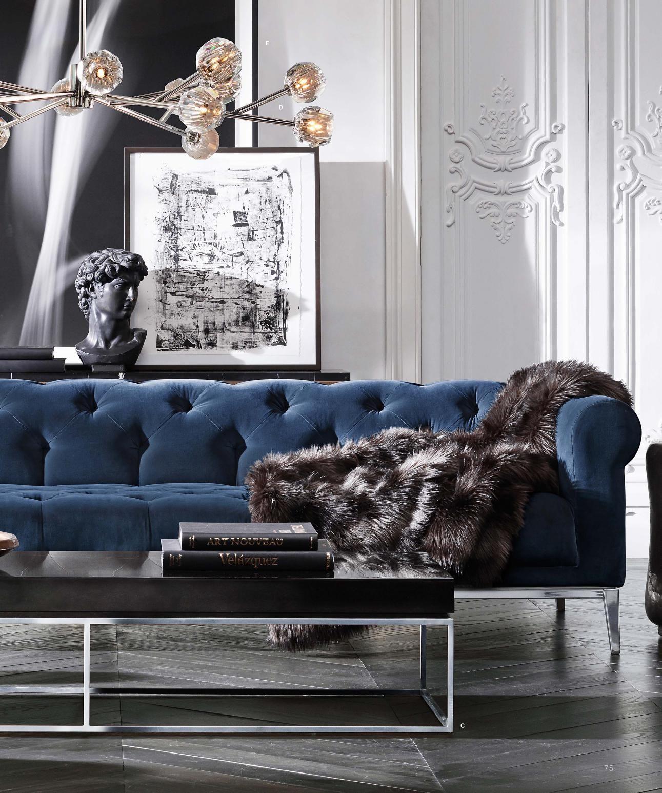 Une pièce à vivre luxueuse | design d\'intérieur, décoration, maison ...