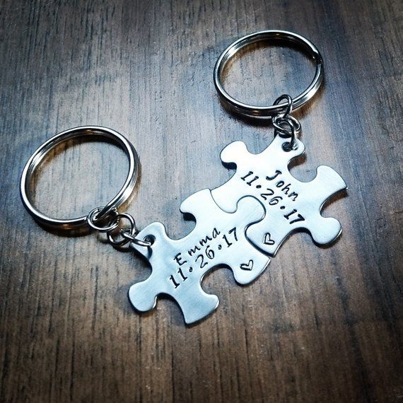 62d4a8e414 Pin by BlackWolfdesigns on couples keychains | Hand stamped, Boyfriend  anniversary gifts, Boyfriend gifts