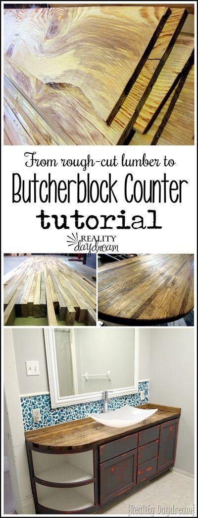How To Build Butcher Block Countertops Diy Wood