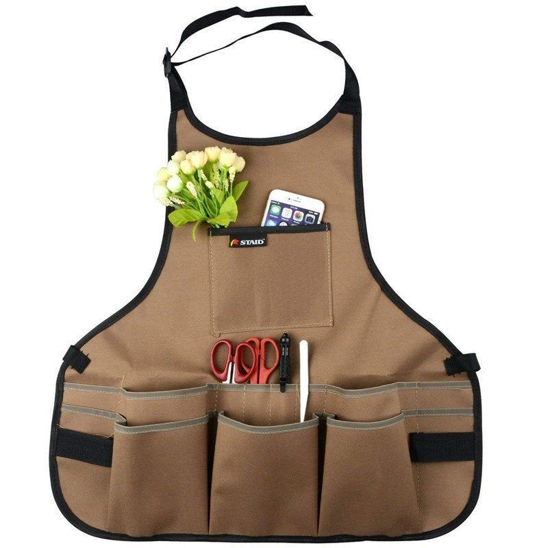 Apron Canvas Work And Garden Withtool Pouches And Pockets Tool
