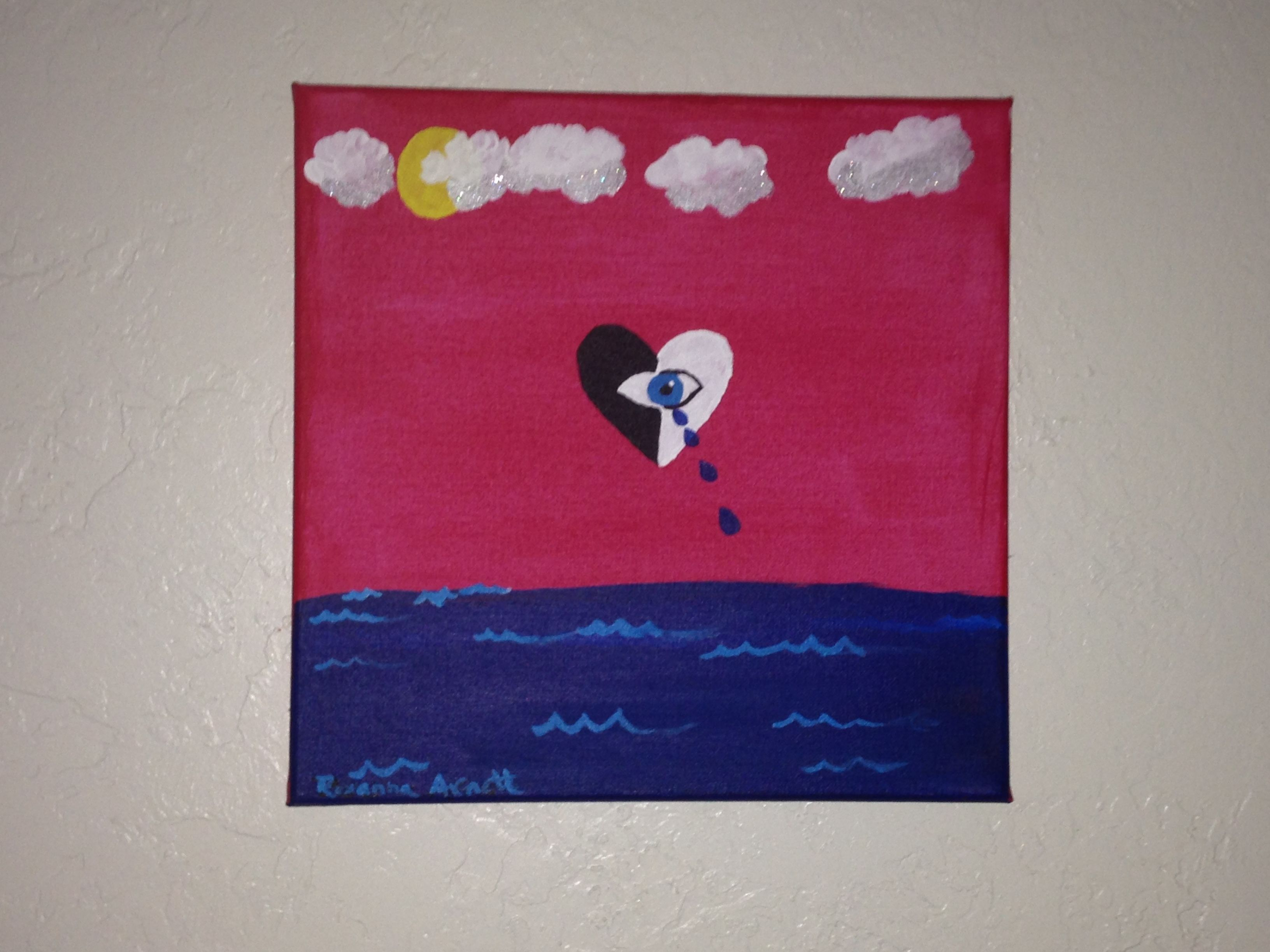Weeping Yin Yang   Acrylic of canvas   By: Roxanna Arnett 2015