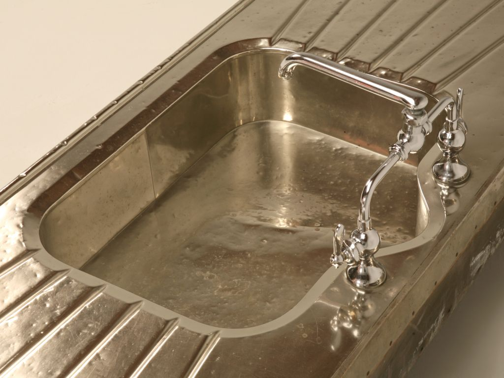 1900s Butleru0027s Pantry | Stellar Antique German Silver Sink W/Faucet And  Drainboards At 1stdibs