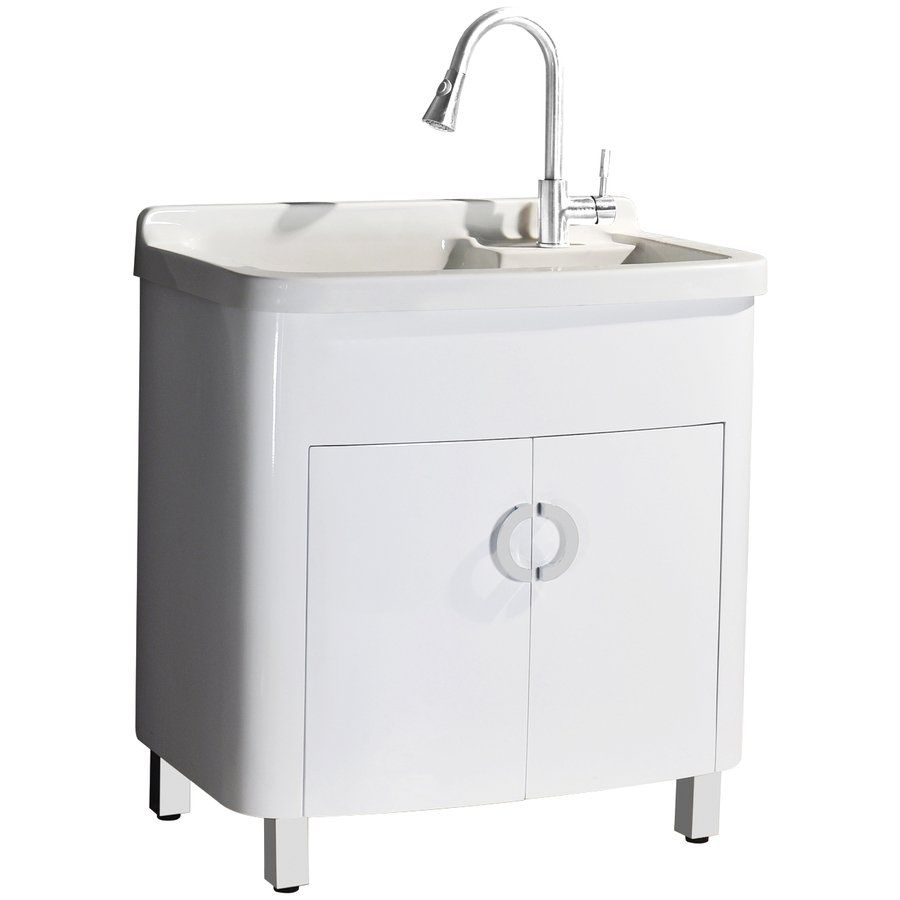Sheffield Home LV204 White Composite Laundry Sink | Aménagement ...