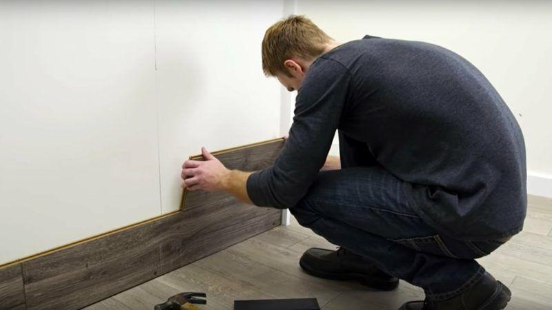 Wandgestaltung Mal Anders Wand Mit Laminat Verkleiden Haus Dekoration Mehr Wandverkleidung Laminat Wand