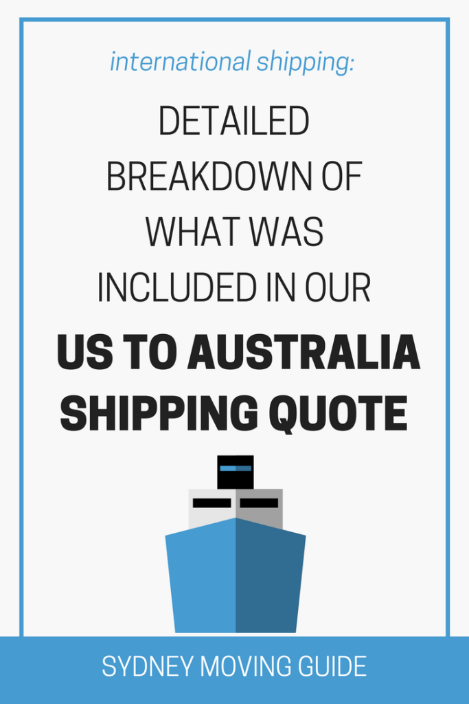 Shipping Quote Pleasing Breakdown Of What Our Australia Shipping Quote Included  Moving .