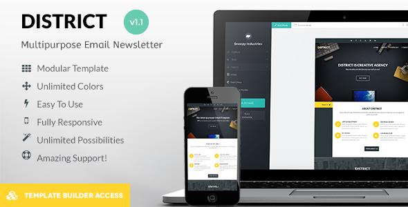 Discount Deals District Responsive Mail + Builder/Editor