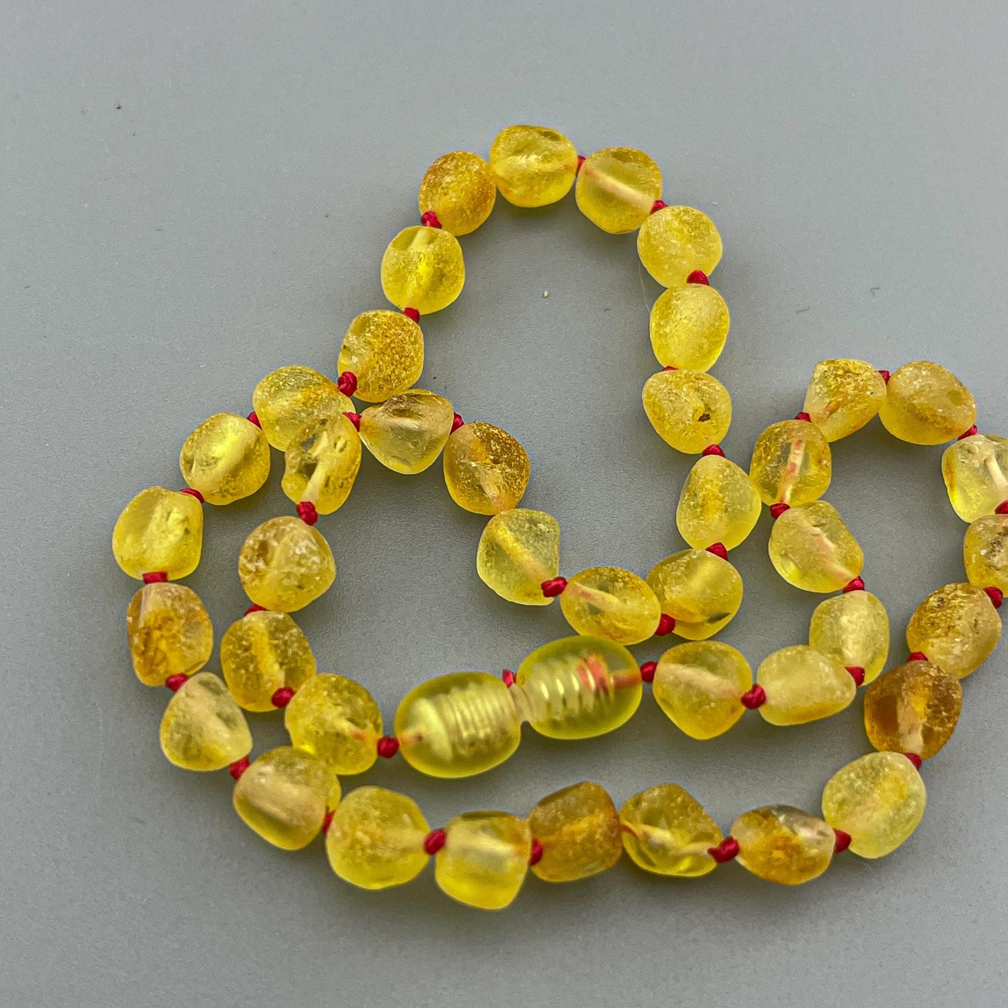 Baltic Amber Necklace - Basic Collection - Raw color
