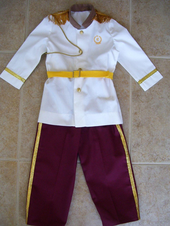 Prince Charming Children's Costume, White Coat, Burgundy Pants ...