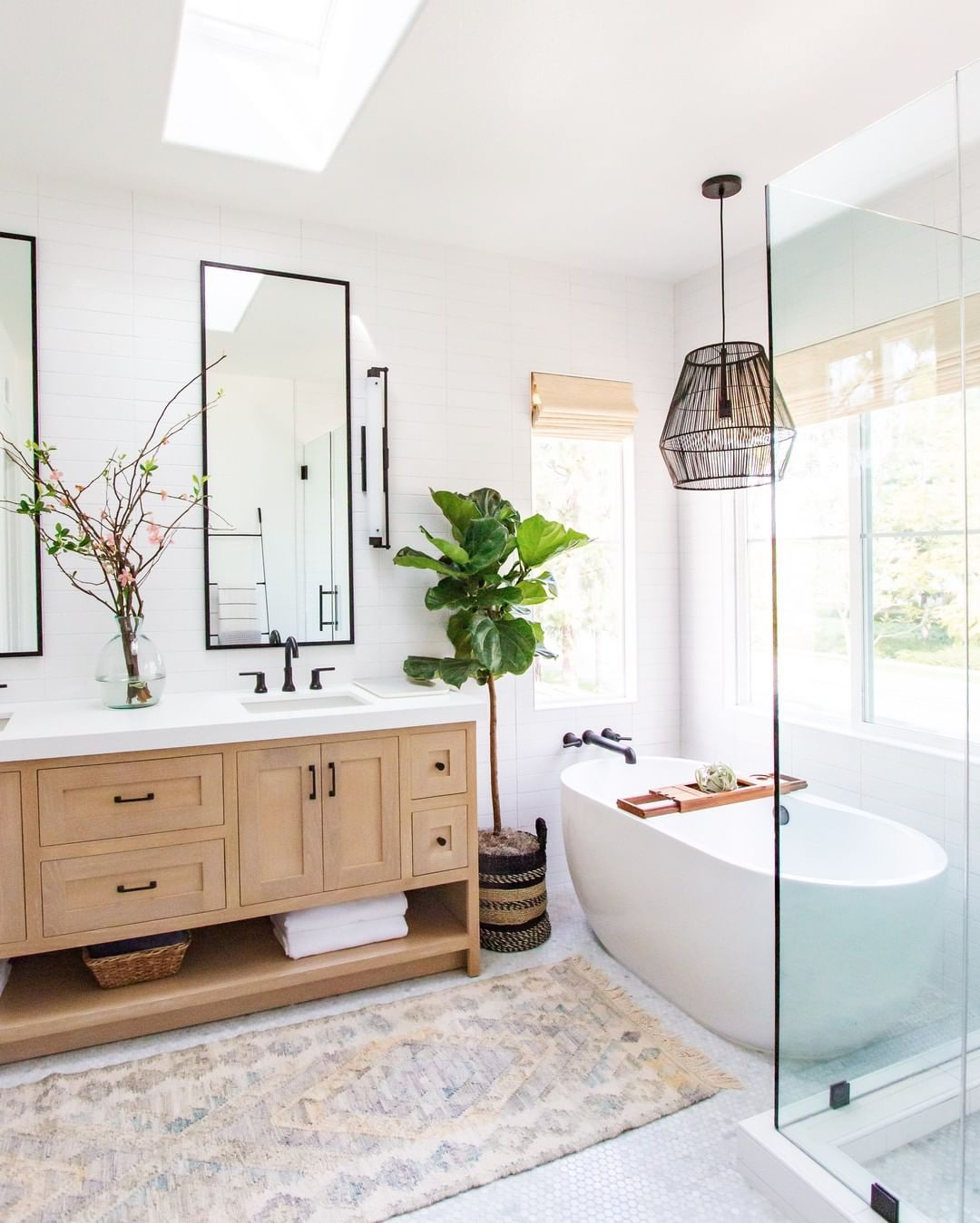 Adding Branches To My Dreamy Bathroom Sets A Different Tone Isn T It Amazing How Adding Di Modern Master Bathroom Bathroom Storage Solutions Bathrooms Remodel