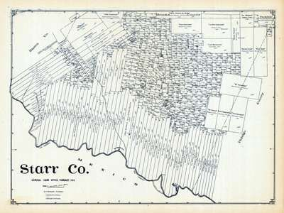 Land Grant map of Starr County Texas Genealogy for the Tejano