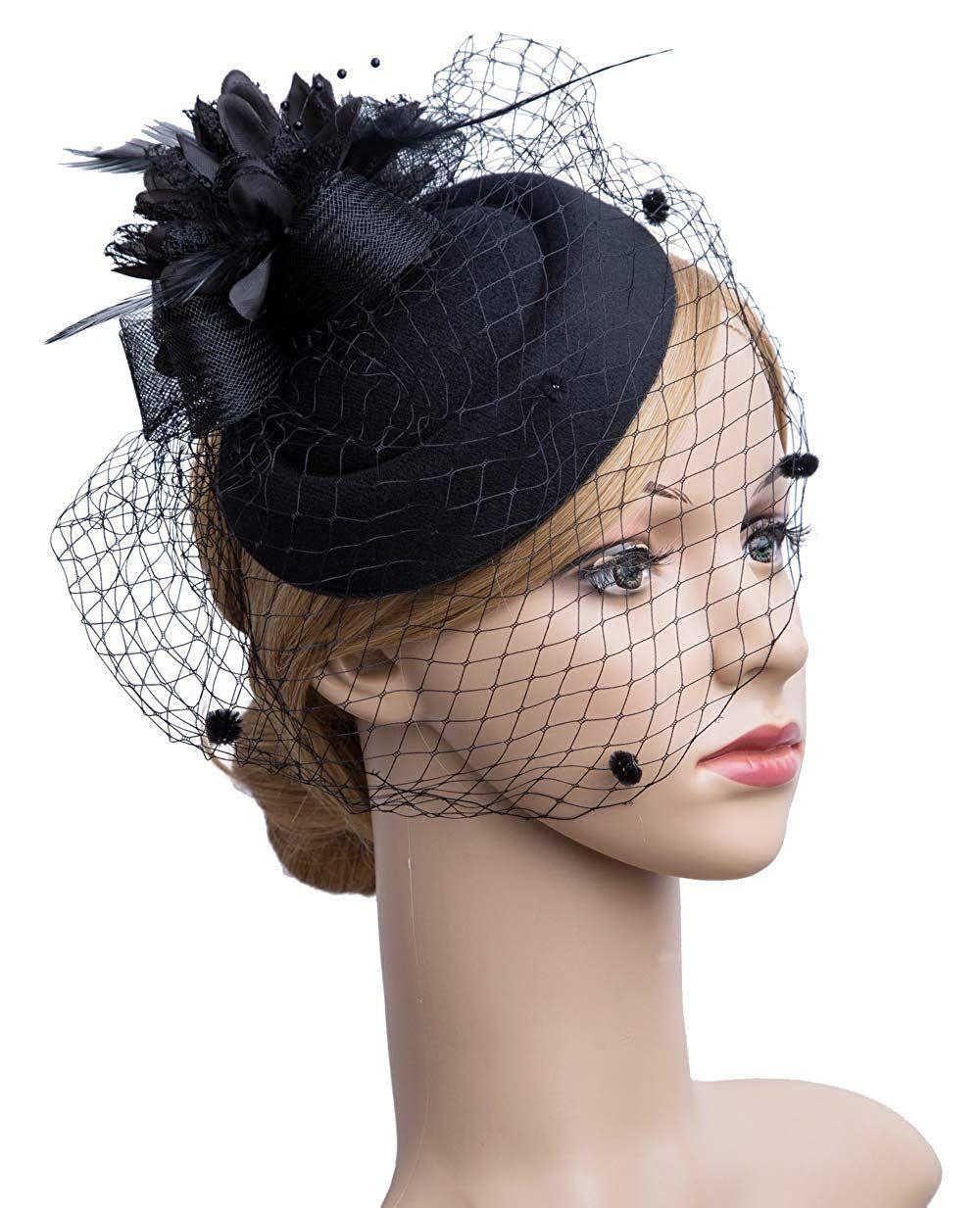 Tea Party Hats Victorian To 1950s Tea Hats Flower Veil Hats For Women