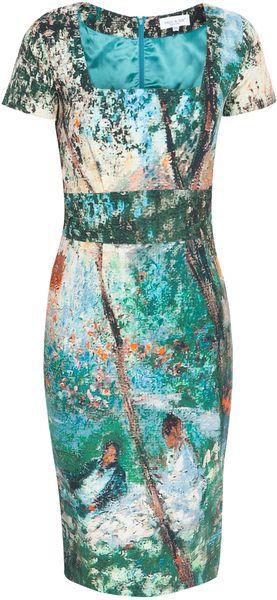 PAUL & JOE. Multicolor Abstract Cotton Dress. 96% Cotton and 2% Elastane. Lining:100% Viscose