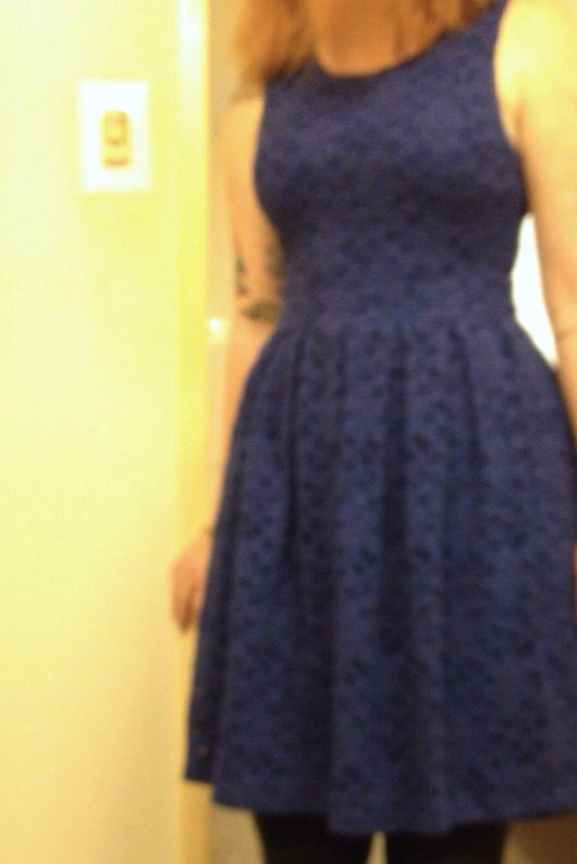 Sorry for the terrible quality! I actually loved the Brixon Ivy dress. I just don't need another dark blue sleeveless dress, so I can't spend $78 on it.