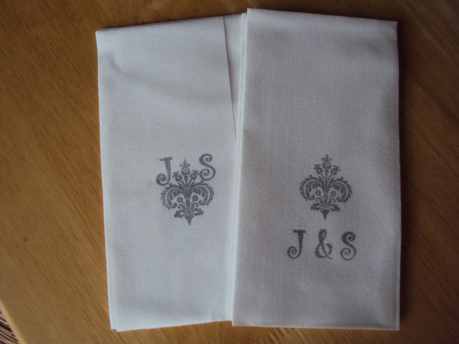 100 Personalized Hand Stamped Guest Towels Or Napkins For Weddings Bridal Showers Hostess Gifts