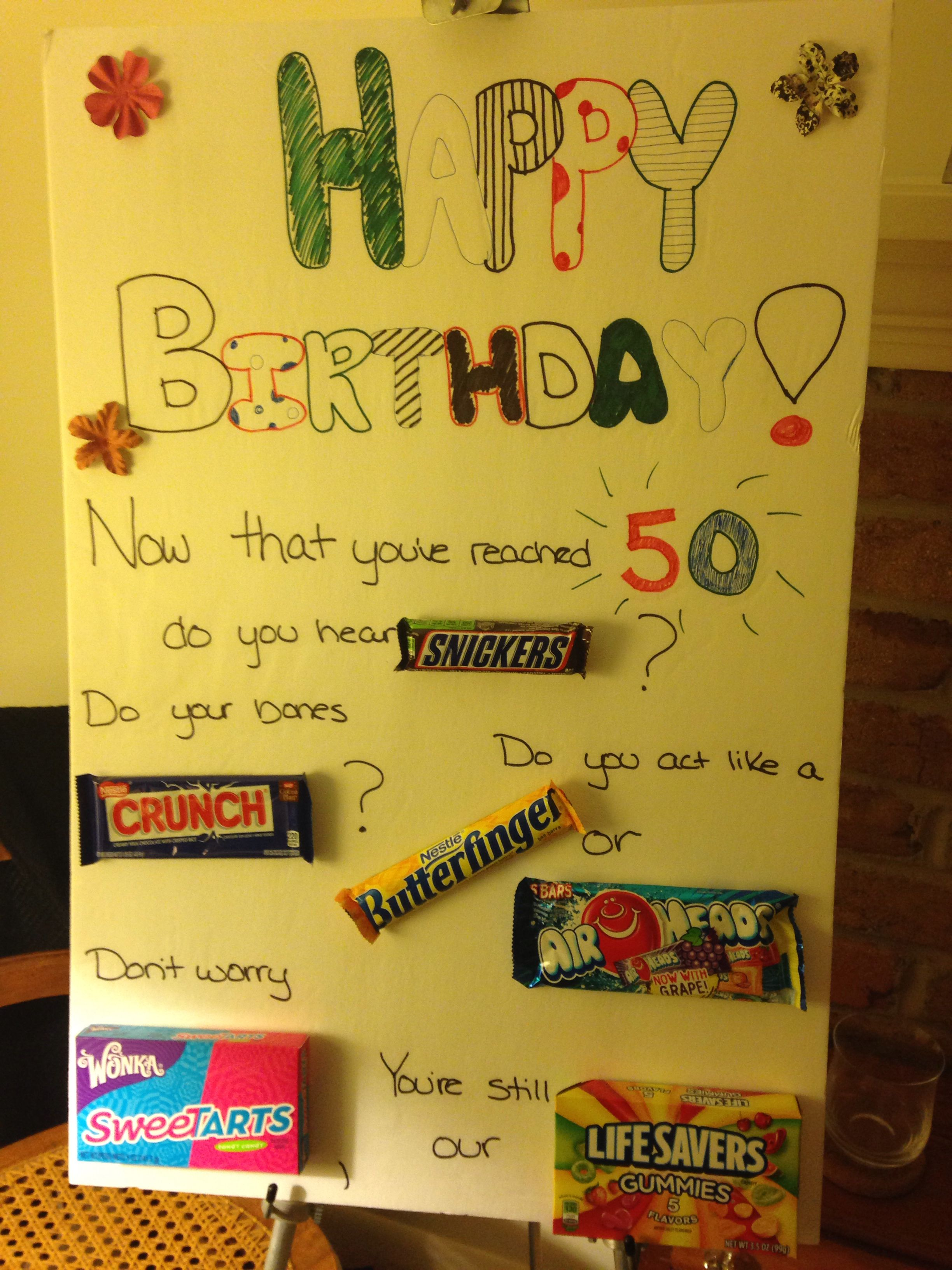 Homemade Poster For Moms 50th Birthday Party