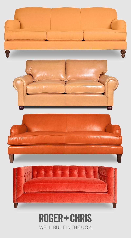 Orange Chesterfields Couches