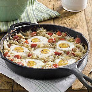 sunny side skillet breakfast