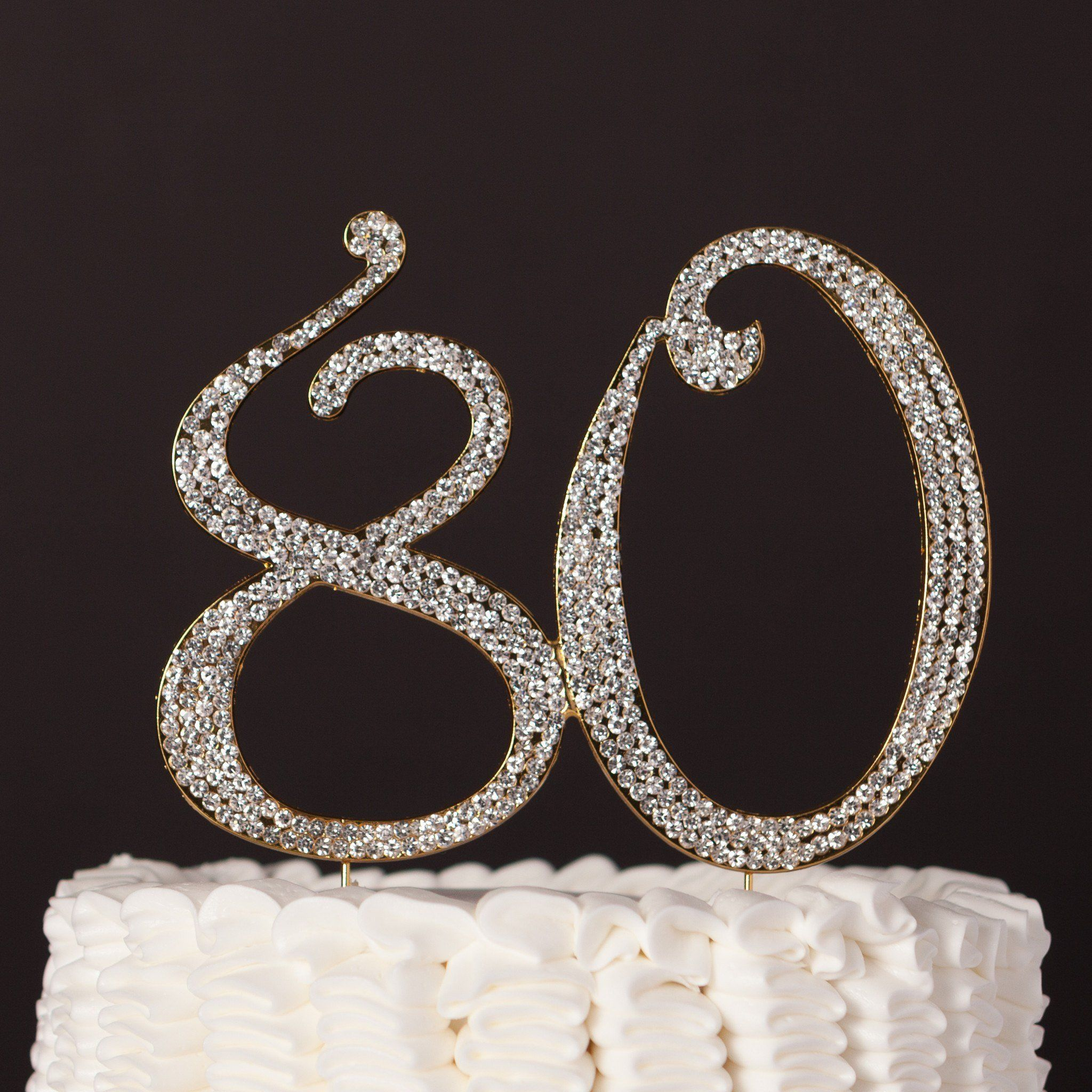 80 cake topper gold 80th birthday cake toppers 80th