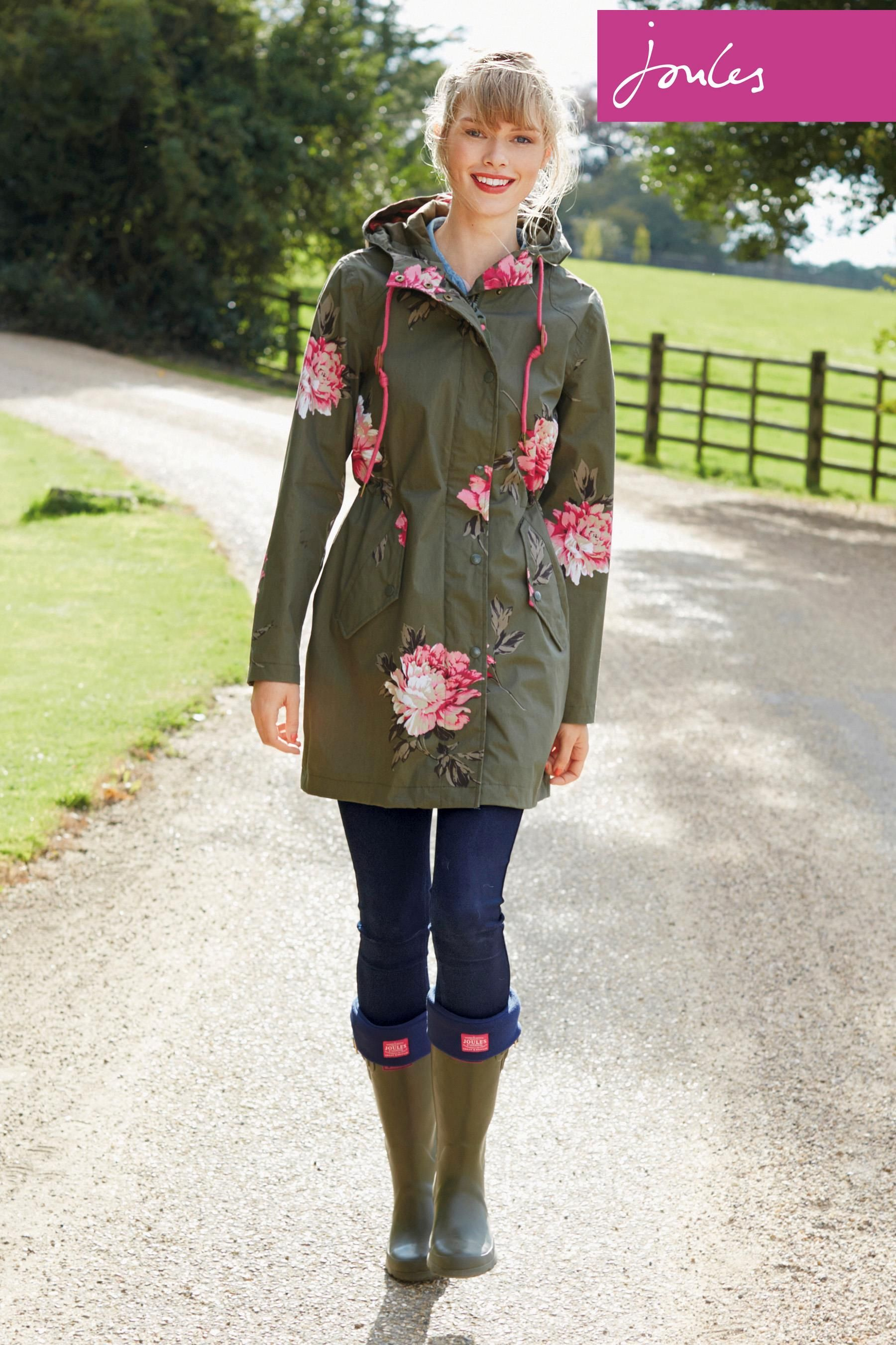 Joules Storm Waterproof Fl Parka For Rainy Days