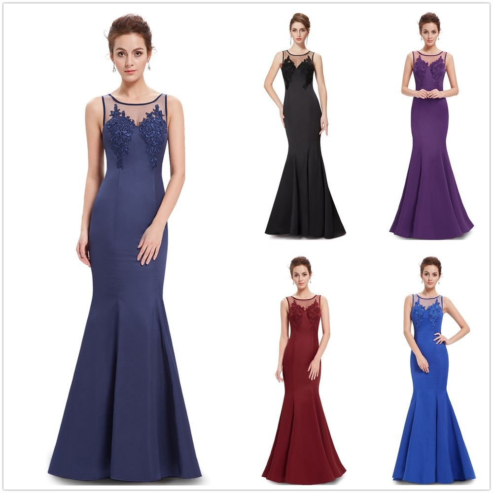 Women\'s Long Prom Party Mermaid Evening Dress Ball Gowns Formal ...