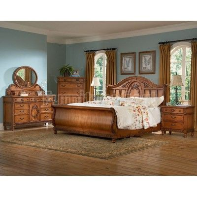 Southern Heritage Chestnut Sleigh Bedroom Set For The Home Pinterest Southern Bedrooms