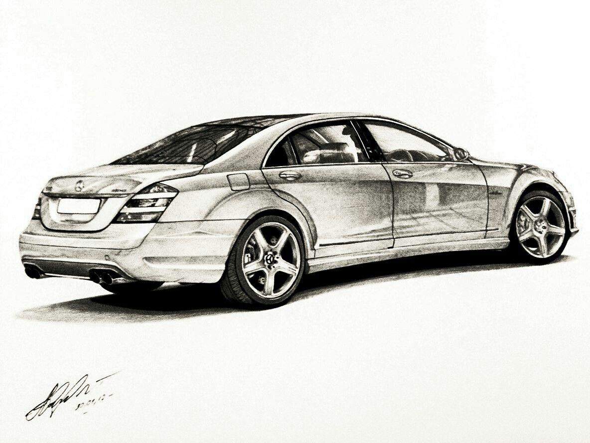 Mopar Drawing Art W221 Mercedes Benz Graphic Pencil Up Tech