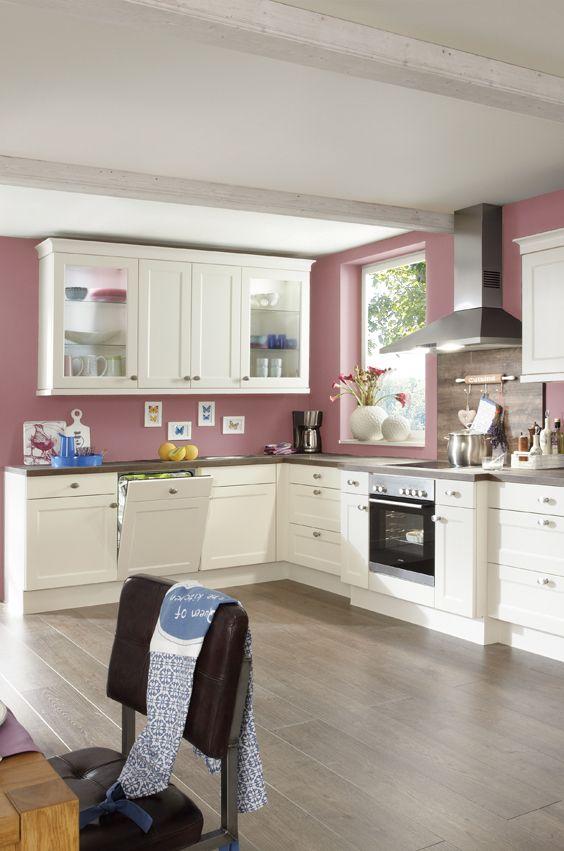 romantische wohnk che im landhausstil romantik k che. Black Bedroom Furniture Sets. Home Design Ideas