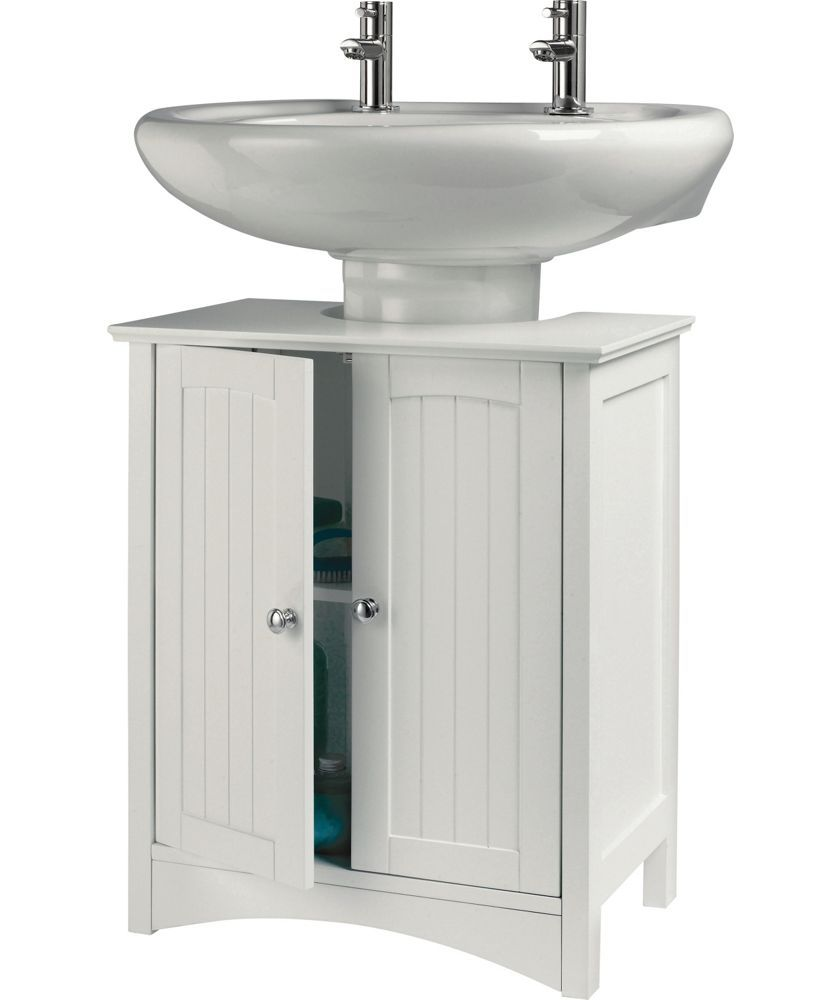 Tongue And Groove Under Sink Storage Unit White At Argos Co Uk