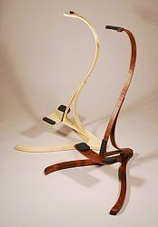 Bellezza Figured Walnut and Curly Maple guitar stands