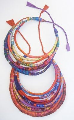 Tassel-y goodness fabric statement necklace