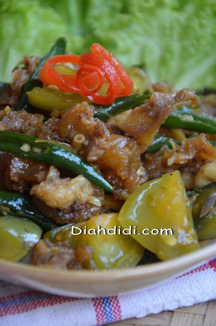 Resep Praktis Dan Enak Oseng Kikil Cabai Hijau Resep Masakan Pedas Resep Masakan Resep Masakan Malaysia