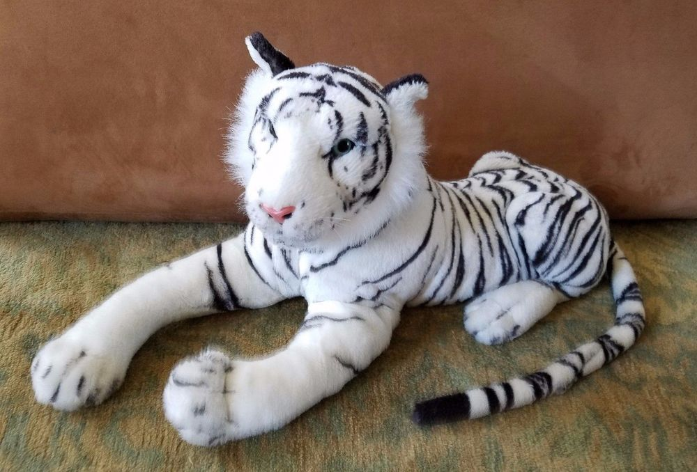 White Bengal Tiger Stuffed Animal Realistic 47 Huge Plush Toy Best