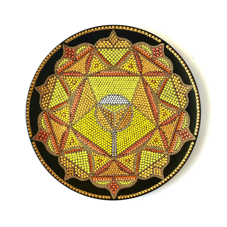 Dot art mandala Manipura Solar Plexus chakra Spiritual art ...