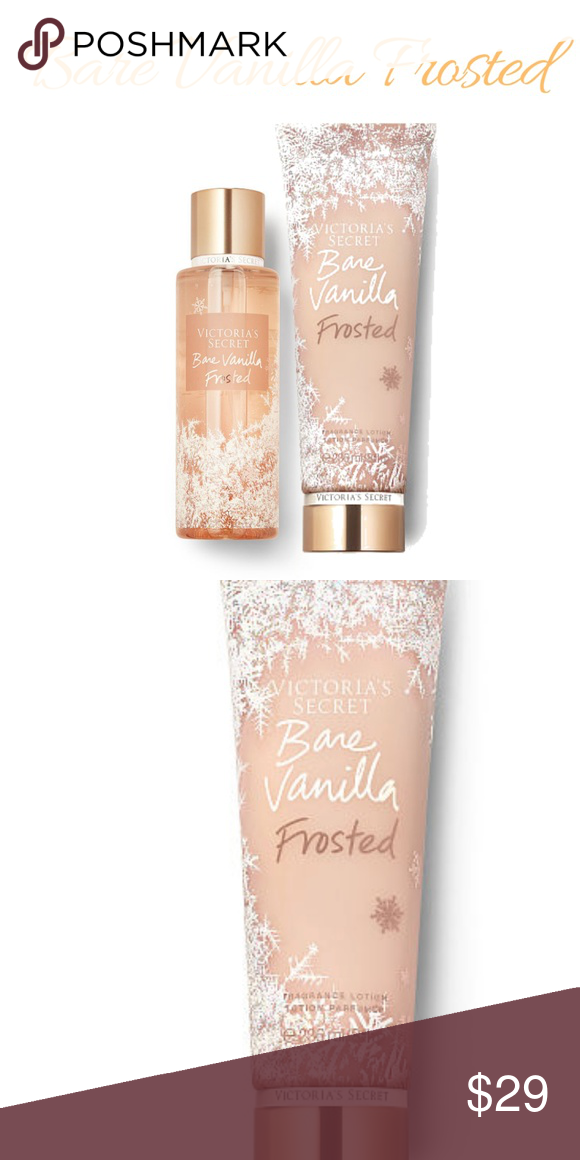 65e6ab806b7f4 Victoria Secret Bare Vanilla Fragrance Lotion&Mist Frosted Fragrance ...