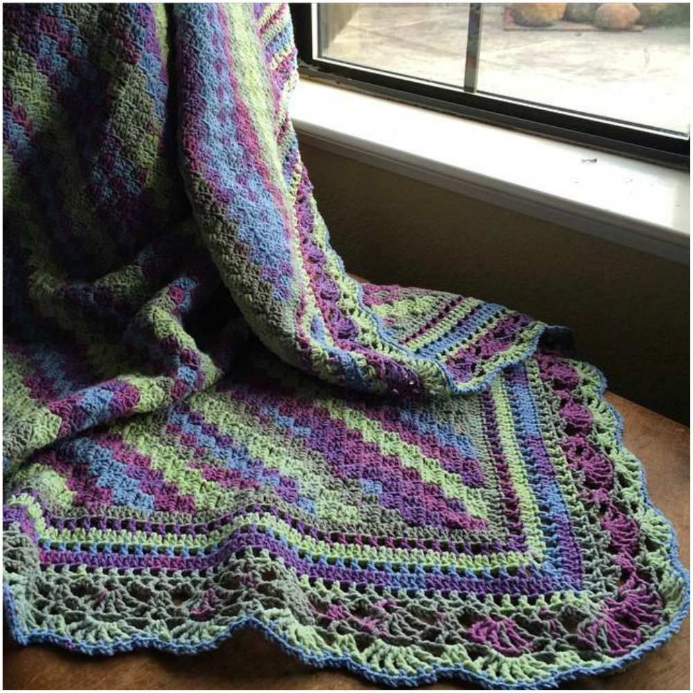 How to Crochet Blanket with Fabulous Edge [Free Pattern | Lace ...