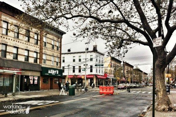Hurricane Sandy tangles power lines around trees in Astoria, Queens