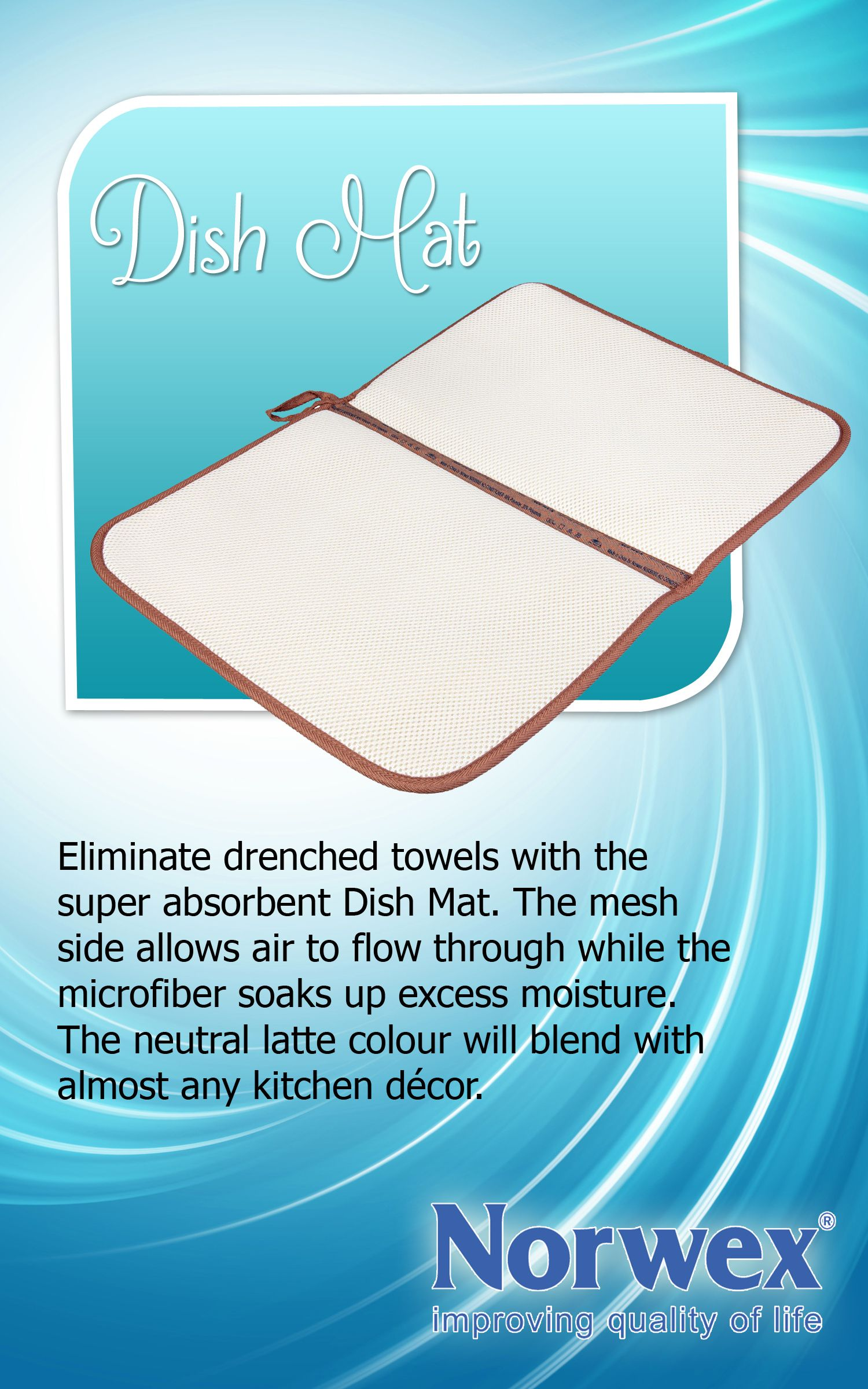 Norwex Dish Mat Pile Dishes High While You Save Time And Effort And Eliminate The Wet Towel Dilemma Use Handy Loop Norwex Norwex Microfiber Norwex Cleaning