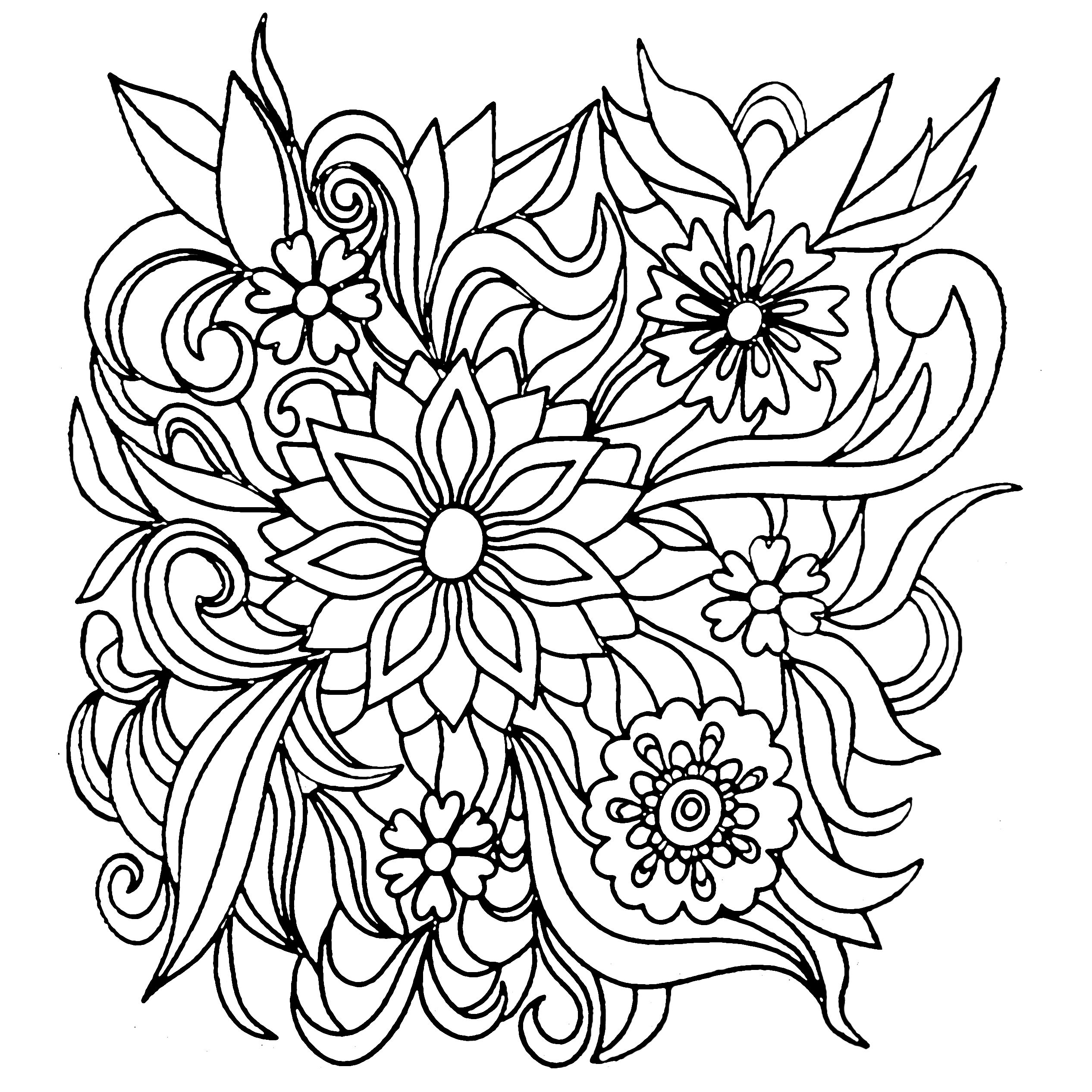 Colors of Nature Adult Colouring Book Flowers