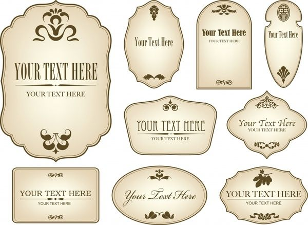 19 Retro Label Templates Free Images   Free Vintage Tag Label Template,  Vintage Blank Label Templates And Free Printable Vintage Label Templates  Free Wine Bottle Label Templates