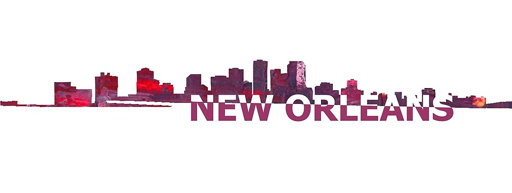 New Orleans Louisiana Skyline Silhouette Strong With Text By Artshop77 Redbubble Skyline Silhouette New Orleans Skyline New Orleans Louisiana