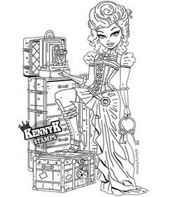 Savannah Belle Pretty Steampunk Paper Crafts Card Making Digi