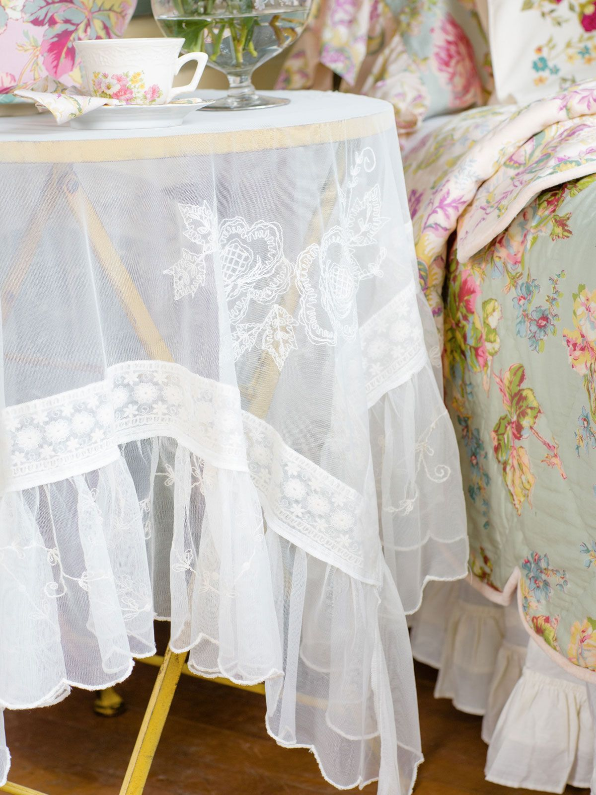 Angelic Embroidered Tablecloth | Table Linens & Kitchen, Tablecloths ...