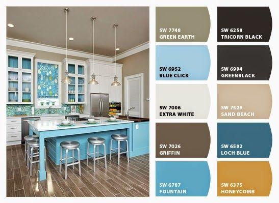 Coastal Kitchen Color Palette Kitchen Color Palettes Coastal