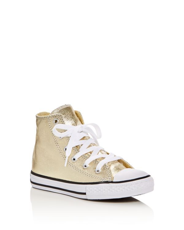 8df162a010b7da Converse Girls  Chuck Taylor All Star Seasonal Metallic High Top Sneakers -  Toddler