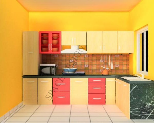 Small indian kitchen design in l shape google search for Kitchen interior design india